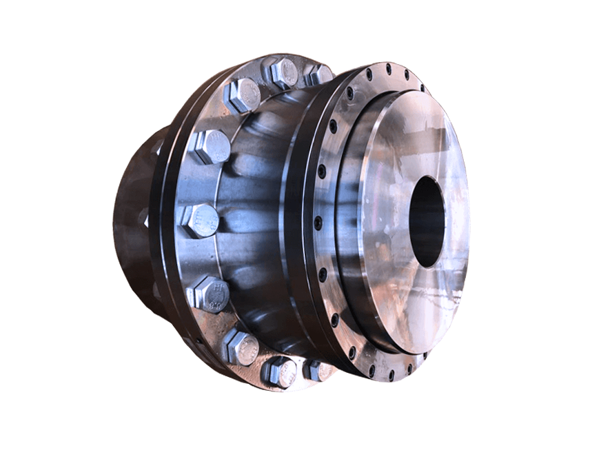Double engagement gear coupling with removable seal carriers.